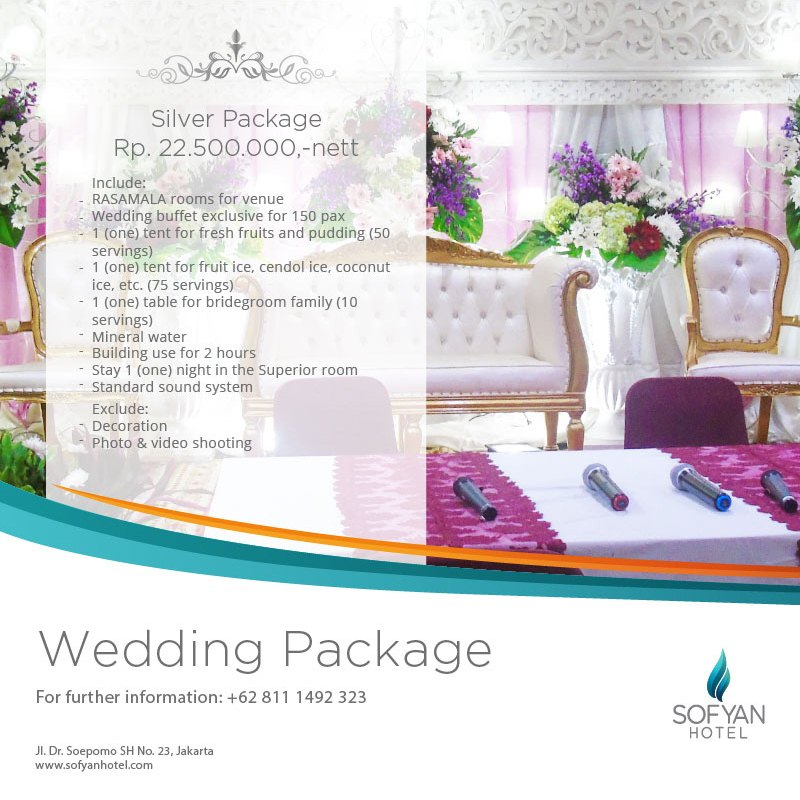 Paket Pernikahan di Hotel Tebet Jakarta Silver Package 2018