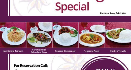 paket menu di hotel