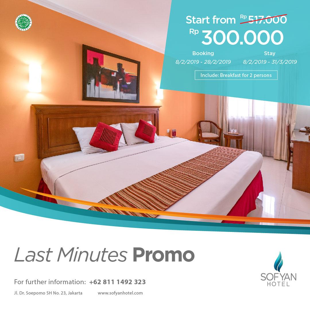 Promo Hotel di Tebet Jakarta Last Minute Februari 2019 - 08111492323