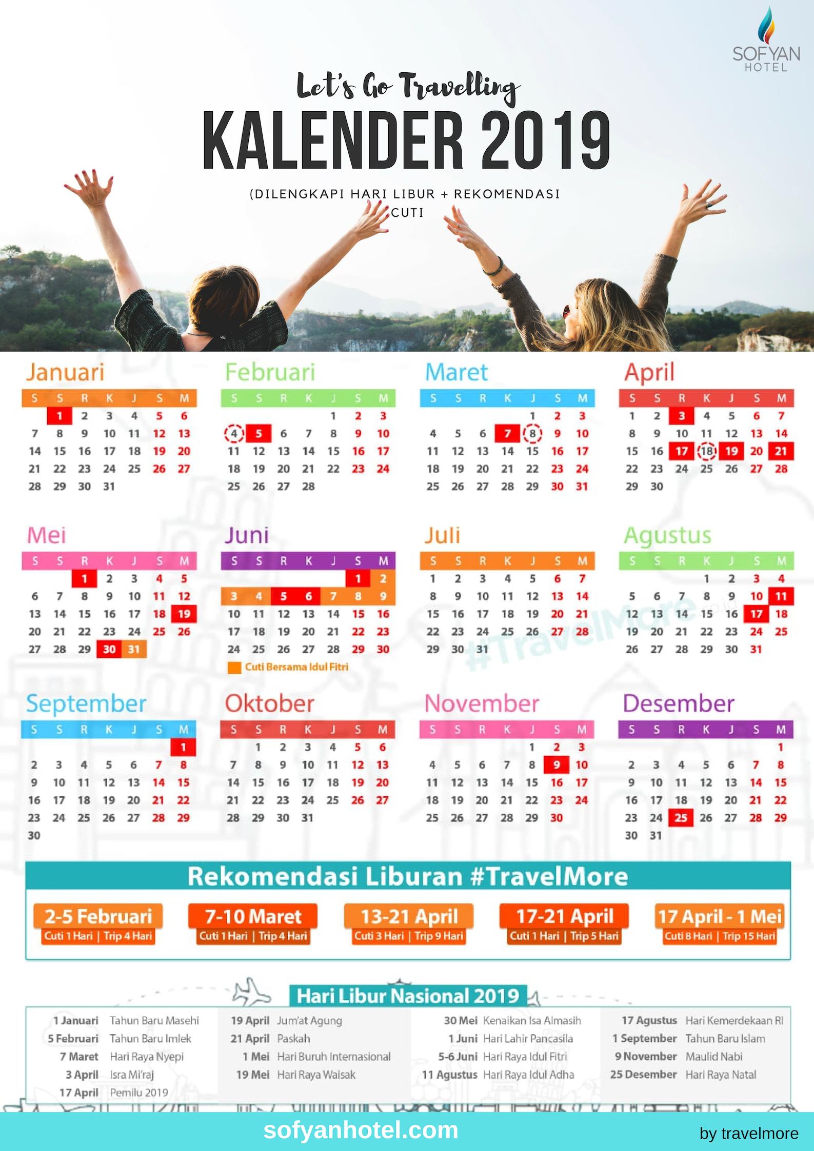 Download Kalender 2019 Kalender Libur 2019 Rekomendasi Cuti