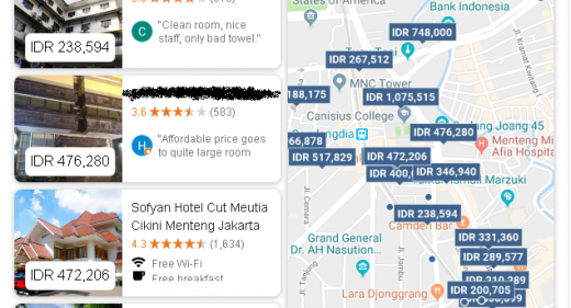 daftar hotel di menteng